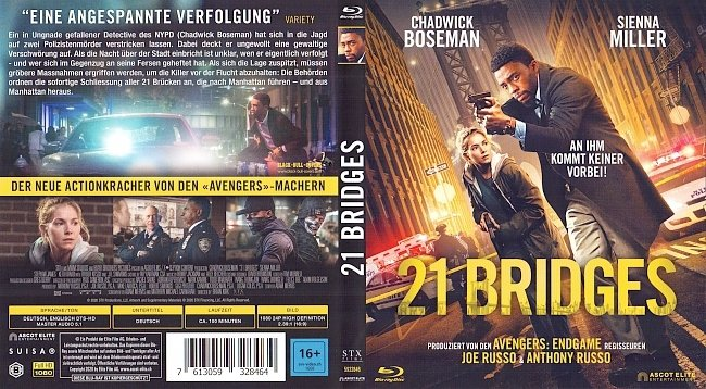 21 Bridges Cover German Deutsch german blu ray cover