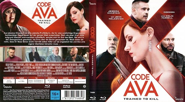 AVA Bluray Cover German Deutsch german blu ray cover