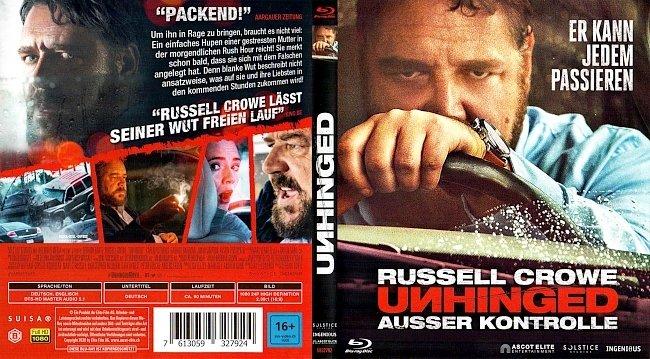 Unhinged Ausser Kontrolle Blu ray Deutsch German blu ray cover german