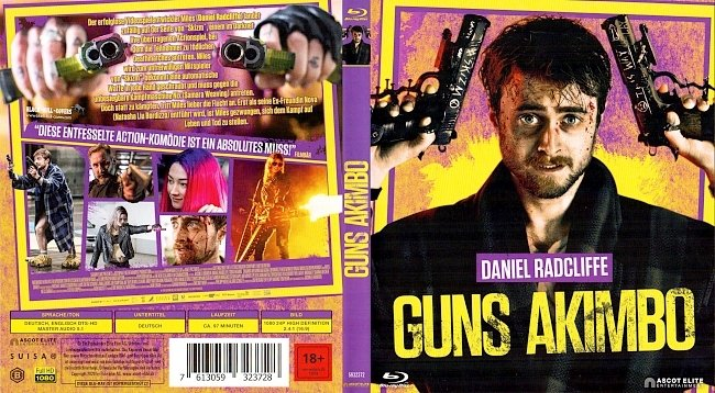 Guns Akimbo Cover Deutsch German Blu ray german blu ray cover