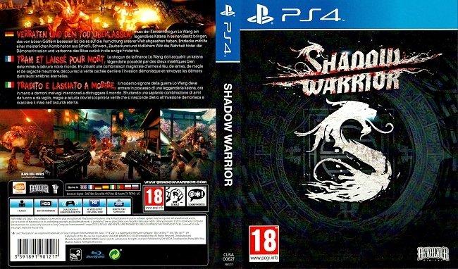 Shadow Warrior PS4 Cover German Deutsch Tedesco Allemand german ps4 cover