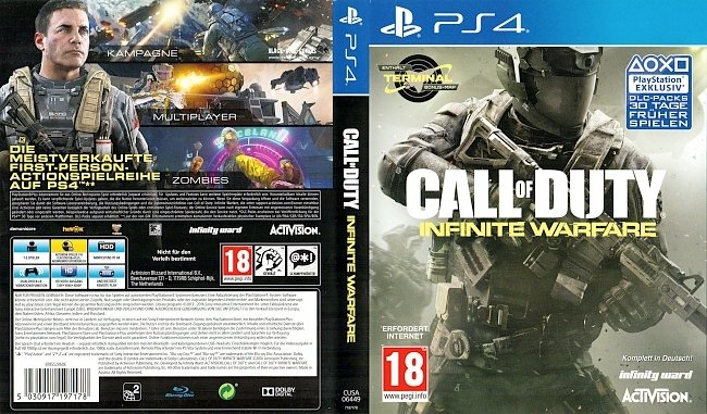 Call of Duty Infinite Warfare Activision Infinity Ward Cover German Deutsch german ps4 cover