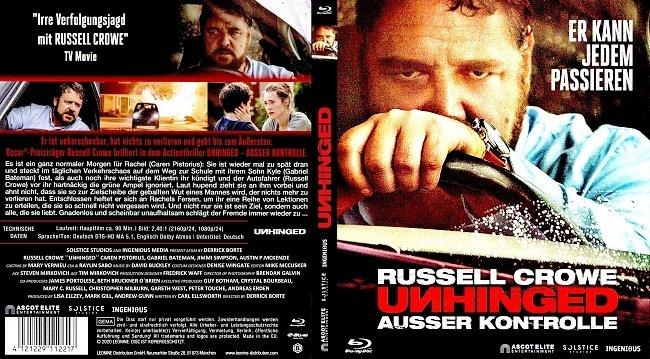 Unhinged Ausser Kontrolle Blu ray Deutsch German Cover 2 german blu ray cover