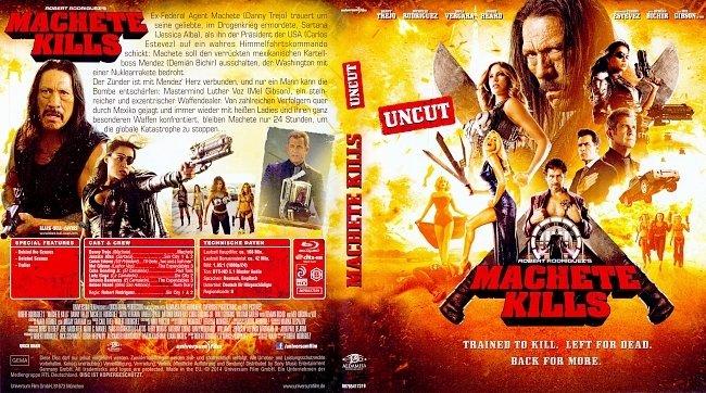 Machete Kills Cover Blu ray ohne FSK Deutsch German german blu ray cover