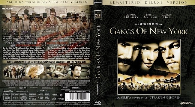 Gangs Of New York Blu ray Cover German Deutsch german blu ray cover