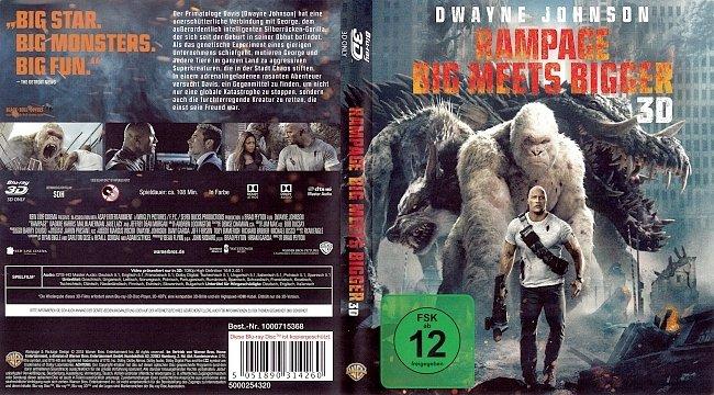 Rampage Big meets Bigger Cover 3D Blu ray German Deutsch german blu ray cover