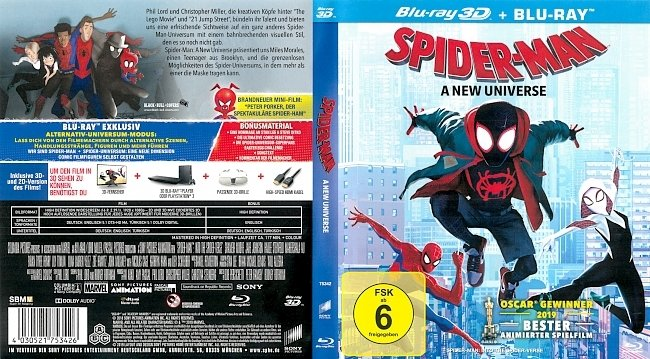 Spider Man A New Universe Blu ray Cover German Deutsch german blu ray cover