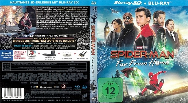 Spider Man Far From Home Blu ray 3D Cover German Deutsch german blu ray cover