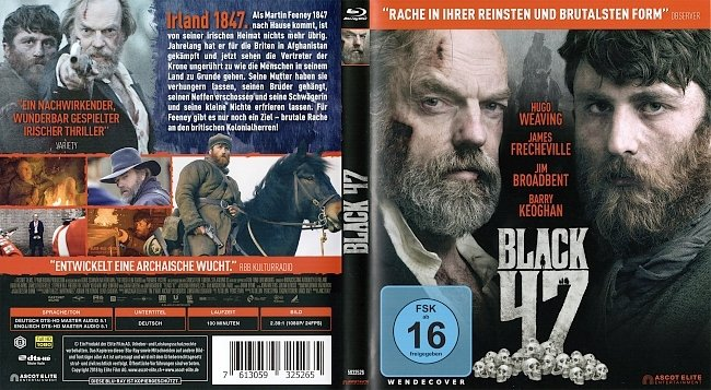 Black 47 Cover Blu ray German Deutsch german blu ray cover