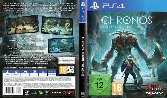 Chronos Before the Ashes Cover German Deutsch PS4 german ps4 cover