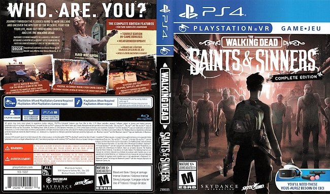The Walking Dead Saints and Sinners Playstation VR Cover US UK german ps4 cover