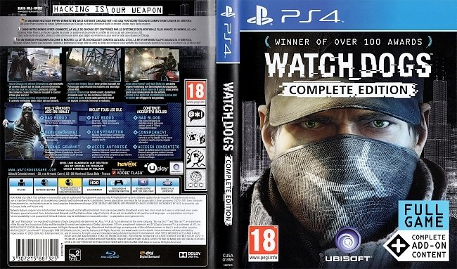 Watch Dogs Complete Edition PS4 Cover German Deutsch german ps4 cover