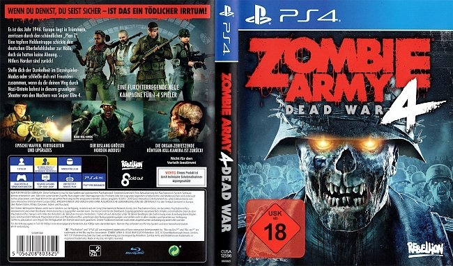 Zombie Army 4 Dead War Cover Playstation 4 German Deutsch german ps4 cover
