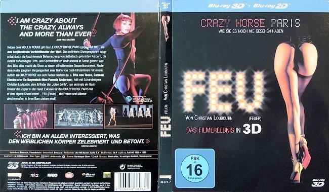 Feuer Feu 3D Christian Louboutin Das Filmerlebnis in 3D Cover Blu ray Deutsch.old german blu ray cover